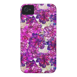 aadfd3bb5e2 Funda Para iPhone 4 Rosa y modelo de flores abstracto púrpura