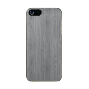 24a4f699605 Funda Para iPhone 5 Incipio Feather Shine Mirada de madera de bambú del  grano del gris