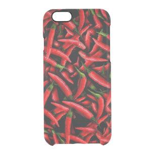 2cc3ca4be8f Funda Transparente Para iPhone 6/6s Pimientas de chile rojo