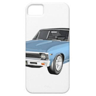 Funda Para iPhone SE/5/5s 1968 coches azules claros del músculo