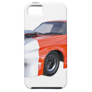 Funda Para iPhone SE/5/5s 2016 coche anaranjado y blanco del músculo