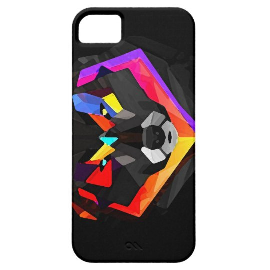 Funda Para iPhone SE/5/5s Abstract wolf iphone