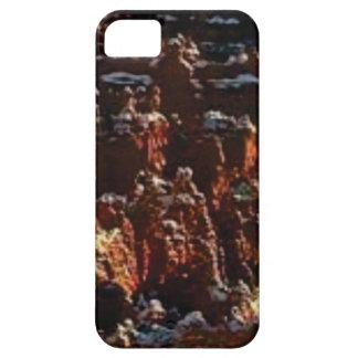 Funda Para iPhone SE/5/5s acantilados de la roca roja de la nieve