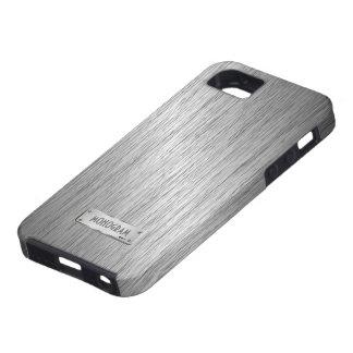 Funda Para iPhone SE/5/5s Acero cepillado mirada metálica de los gris