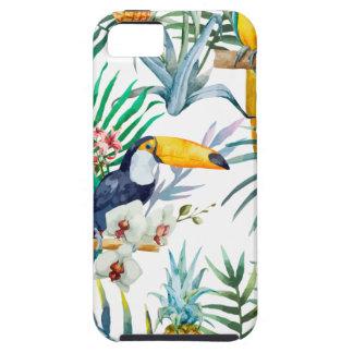 Funda Para iPhone SE/5/5s Acuarela tropical del pájaro del loro de la piña