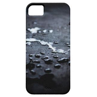 Funda Para iPhone SE/5/5s Agua en la caja de madera carbonizada del teléfono