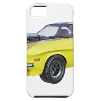Funda Para iPhone SE/5/5s Amarillo del coche de 1970 músculos con la raya