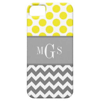 Funda Para iPhone SE/5/5s Amarillo y gris, Chevron, caso del iphone 5 de los