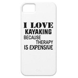 Funda Para iPhone SE/5/5s Amo el Kayaking porque la terapia es costosa