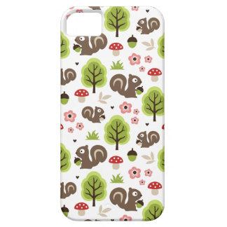 Funda Para iPhone SE/5/5s Ardilla en el modelo del bosque del roble