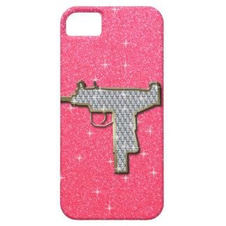 Funda Para iPhone SE/5/5s Arma rosado de Bling Uzi