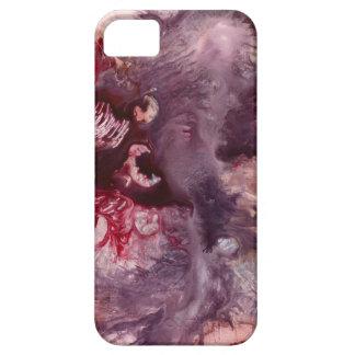 Funda Para iPhone SE/5/5s Arte abstracto púrpura y rojo