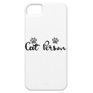 Funda Para iPhone SE/5/5s Arte de la tipografía de la persona del gato