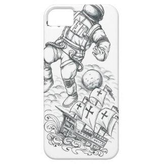 Funda Para iPhone SE/5/5s Astronauta atado al tatuaje de Caravel