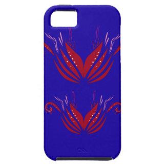 Funda Para iPhone SE/5/5s Azul rojo de los elementos del diseño