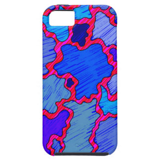 Funda Para iPhone SE/5/5s Azul y rosado abstractos