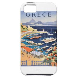 Funda Para iPhone SE/5/5s Bahía 1955 de Grecia Atenas del poster del viaje