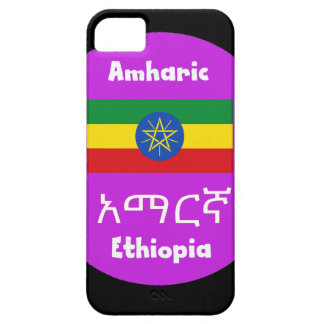 Funda Para iPhone SE/5/5s Bandera de Etiopía y diseño de la lengua