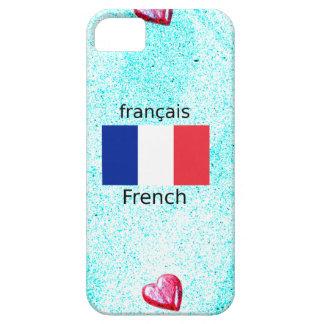 Funda Para iPhone SE/5/5s Bandera de Francia y diseño de la lengua francesa