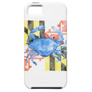 Funda Para iPhone SE/5/5s Bandera de Maryland de la acuarela y cangrejo azul