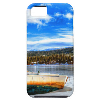 Funda Para iPhone SE/5/5s Barco en nieve en el lago big Bear, California