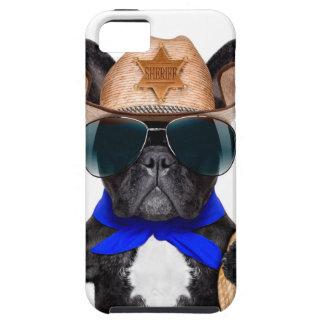Funda Para iPhone SE/5/5s barro amasado del vaquero - vaquero del perro