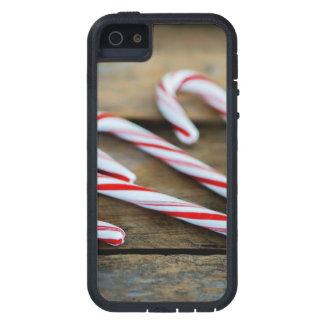 Funda Para iPhone SE/5/5s Bastones de caramelo de Chrstmas en la madera del