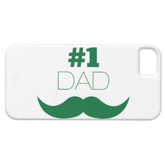 Funda Para iPhone SE/5/5s Bigote del verde del papá #1 - número uno