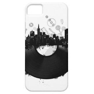 Funda Para iPhone SE/5/5s blanco del vinilo del horizonte de la ciudad de