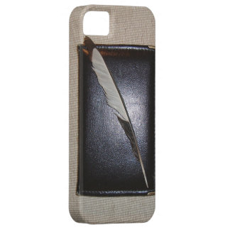 Funda Para iPhone SE/5/5s Book and feather
