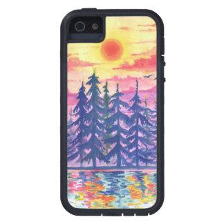 Funda Para iPhone SE/5/5s Bosque y lago en la oscuridad, iPhone5/5s
