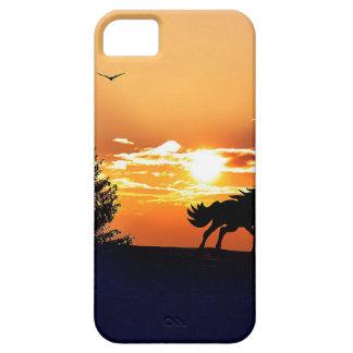 Funda Para iPhone SE/5/5s caballo corriente - caballo de la puesta del sol -