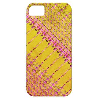 Funda Para iPhone SE/5/5s Caja amarilla y rosada enrrollada del teléfono