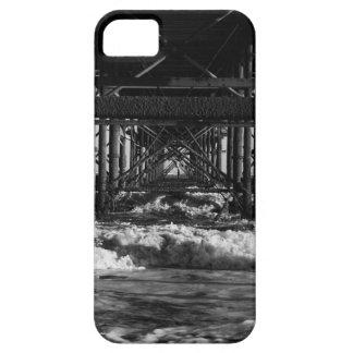 Funda Para iPhone SE/5/5s Caja blanco y negro del teléfono de la playa