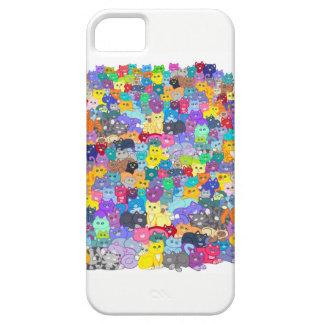 Funda Para iPhone SE/5/5s Caja colorida del teléfono de los gatos