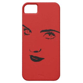 Funda Para iPhone SE/5/5s Caja del teléfono de la cara de la mujer