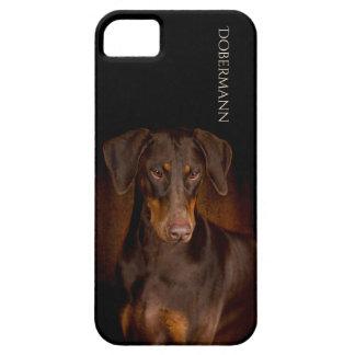 Funda Para iPhone SE/5/5s Caja del teléfono del Doberman