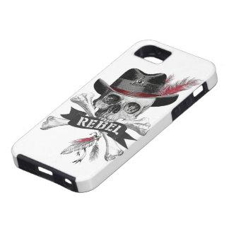 Funda Para iPhone SE/5/5s Caja gótica tribal rebelde del teléfono del cráneo