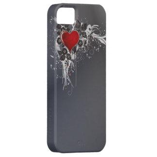 Funda Para iPhone SE/5/5s Caja gris del vintage iphone5 del corazón del