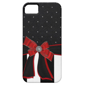 Funda Para iPhone SE/5/5s Caja negra y blanca de Iphone del diamante