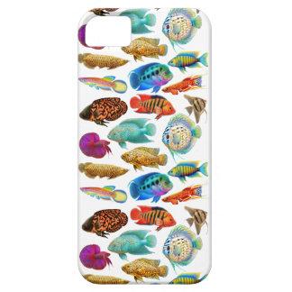 Funda Para iPhone SE/5/5s Caja tropical colorida del iPhone de los pescados