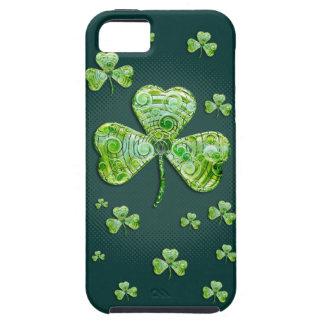 Funda Para iPhone SE/5/5s Caja verde elegante del iPhone 5 de los tréboles