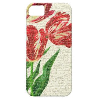 Funda Para iPhone SE/5/5s Caligrafía roja de los tulipanes