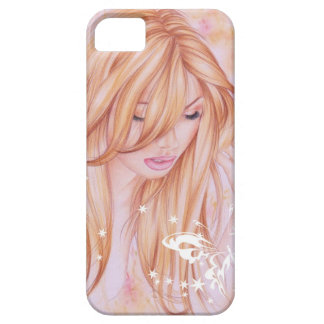 Funda Para iPhone SE/5/5s Cara femenina con adorno de la mariposa