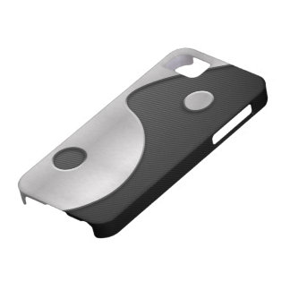 Funda Para iPhone SE/5/5s Carbono de Yin Yang y caja abstractos del metal 4G