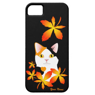 Funda Para iPhone SE/5/5s Caso Bobtail japonés del amor del gato MI-KE