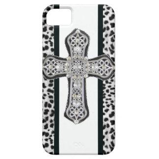 Funda Para iPhone SE/5/5s Caso cruzado formado una costra diamante