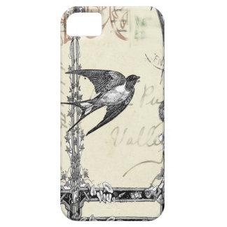 Funda Para iPhone SE/5/5s Caso de Iphone del pájaro del estilo del vintage