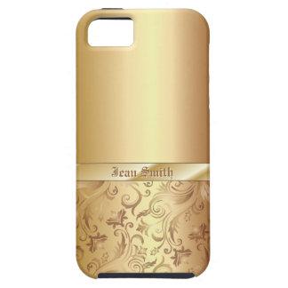 Funda Para iPhone SE/5/5s Caso del iPhone 5 de la textura del metal del