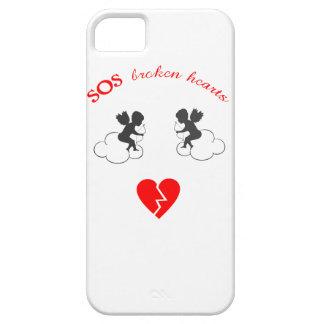 Funda Para iPhone SE/5/5s caso del iphone de los corazones quebrados